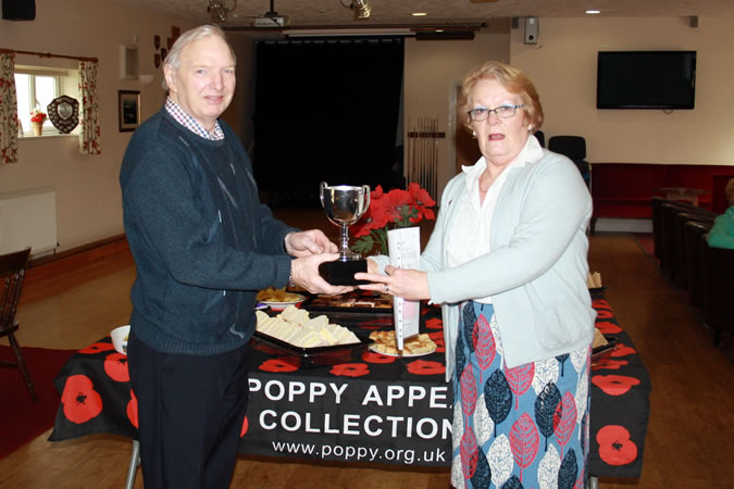 Colin Hayward and the poppy collection coordinator